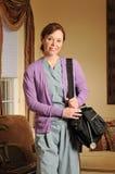 Infirmière de santé à la maison image libre de droits