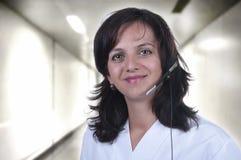 Infirmière de téléphone Images libres de droits