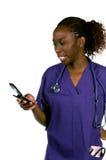 Infirmière de téléphone portable Images stock