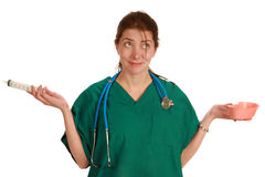 Infirmière drôle Photographie stock