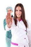 Infirmière et médecin Photo libre de droits