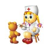 Infirmière et ours de nounours Photos stock
