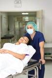 Infirmière et patient photo stock