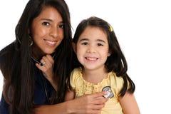 Infirmière féminine avec le patient Photo stock