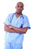 Infirmière mâle africaine d'Amrican Photo libre de droits