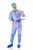 Infirmière mâle, travail d'admin Image stock