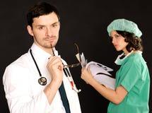infirmière médicale de docteur photo libre de droits