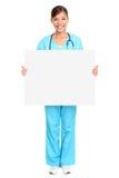 Infirmière médicale de signe Photos stock