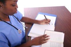 Infirmière ou étudiant photo libre de droits