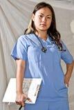Infirmière pour la location - série de gens Image libre de droits
