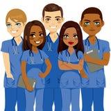 Infirmière Team de diversité illustration stock