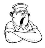 Infirmière tirée par la main Image stock