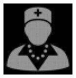 Infirmière tramée blanche Icon illustration libre de droits