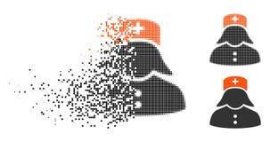 Infirmière tramée détruite Icon de pixel illustration libre de droits