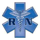 Infirmier autorisé Star de symbole médical de la vie illustration de vecteur