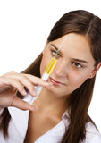 Infirmière avec la seringue Photo libre de droits