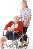 Infirmière avec le vieillard Photo libre de droits