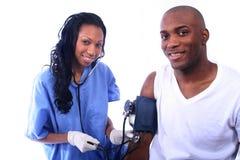 Infirmière et patient Images libres de droits