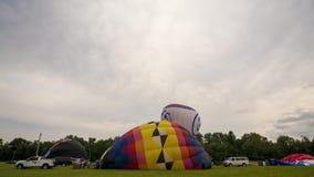 Inflação do balão de ar quente do lapso de tempo Fotos de Stock Royalty Free