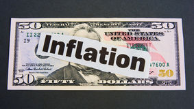 Inflación: ¿depreciación de dinero en circulación? Imagenes de archivo