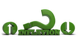 Inflación más alta o más baja Foto de archivo libre de regalías
