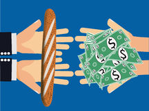 Inflación o artículo irrazonable costoso Foto de archivo