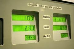 Inflación y gasolinera de Gas_ Imagenes de archivo