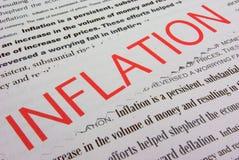 Inflacja obrazy stock