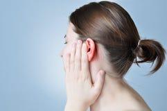 Inflamação da orelha imagem de stock royalty free