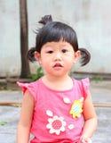 Inflamación asiática del ojo del bebé Fotos de archivo