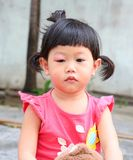 Inflamación asiática del ojo del bebé Imagen de archivo