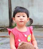 Inflamación asiática del ojo del bebé Imágenes de archivo libres de regalías