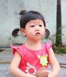Inflamación asiática del ojo del bebé Fotografía de archivo