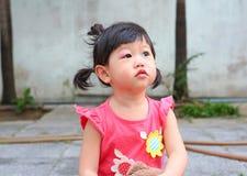 Inflamación asiática del ojo del bebé Foto de archivo libre de regalías