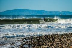 Inflamación del invierno en Ventura Foto de archivo libre de regalías