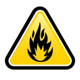 Inflammable illustration stock