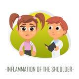 Inflammation av skuldraläkarundersökningbegreppet Vektor Illustratio Arkivbilder