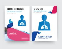 Inflammation brochure flyer design template. With abstract photo background, minimalist trend business corporate roll up or annual report Stock Photos
