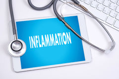 Inflammation Joint inflammation concept Medical Report , lymph. Glands , allergies. dermatology stock photography