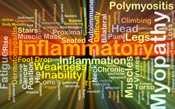 Inflammatory myopathy background concept glowing Stock Photo