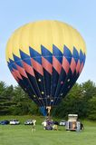 Inflando o balão de ar quente Imagem de Stock Royalty Free