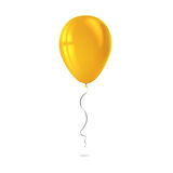 Inflatable air flying balloon isolated on white background. Close-up look at yellow balloon with reflects. Realistic 3D vector illustration Stock Image