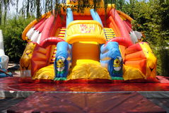 Inflatable air slide Royalty Free Stock Photography