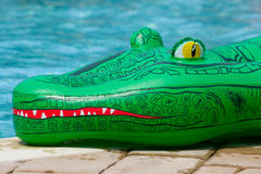 Inflatable alligator toy Royalty Free Stock Photography