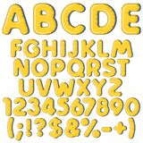 Inflatable alphabet, letters, numbers and signs. Set of colored isolated vector objects. Inflatable alphabet, letters, numbers and signs. Set of colored Royalty Free Stock Images