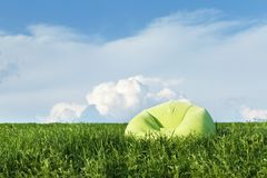 Inflatable armchair outdoors in the grass Stock Image