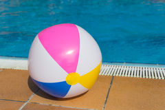 Inflatable ball at swimming pool Stock Image