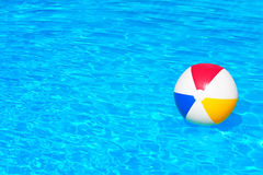 Inflatable ball in swimming pool Stock Photography