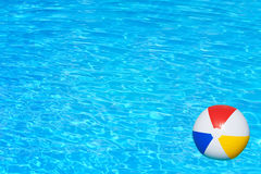 Inflatable ball in swimming pool Stock Image