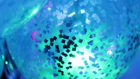Inflatable balloon with confetti inside. At the celebration party stock video footage